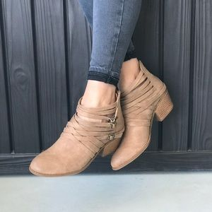 Cool Edgy Multiple Straps Wrap Around Ankle Boots